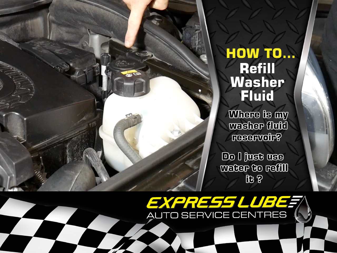 How to refill washer fluid