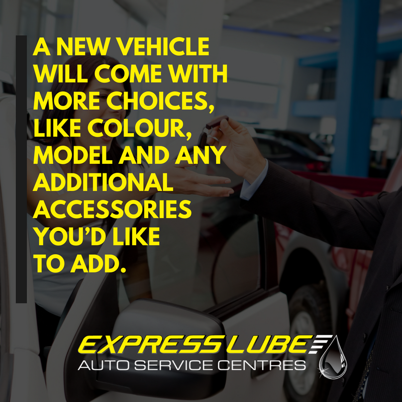 A new car will come with the knowledge that it's under warranty.