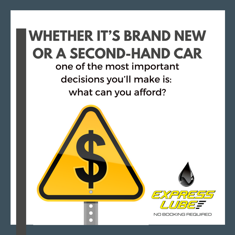 Whether it's brand new or a second-hand car, one of the most important decision you'll make is what can you afford.