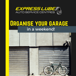 Organise your garage in a weekend.