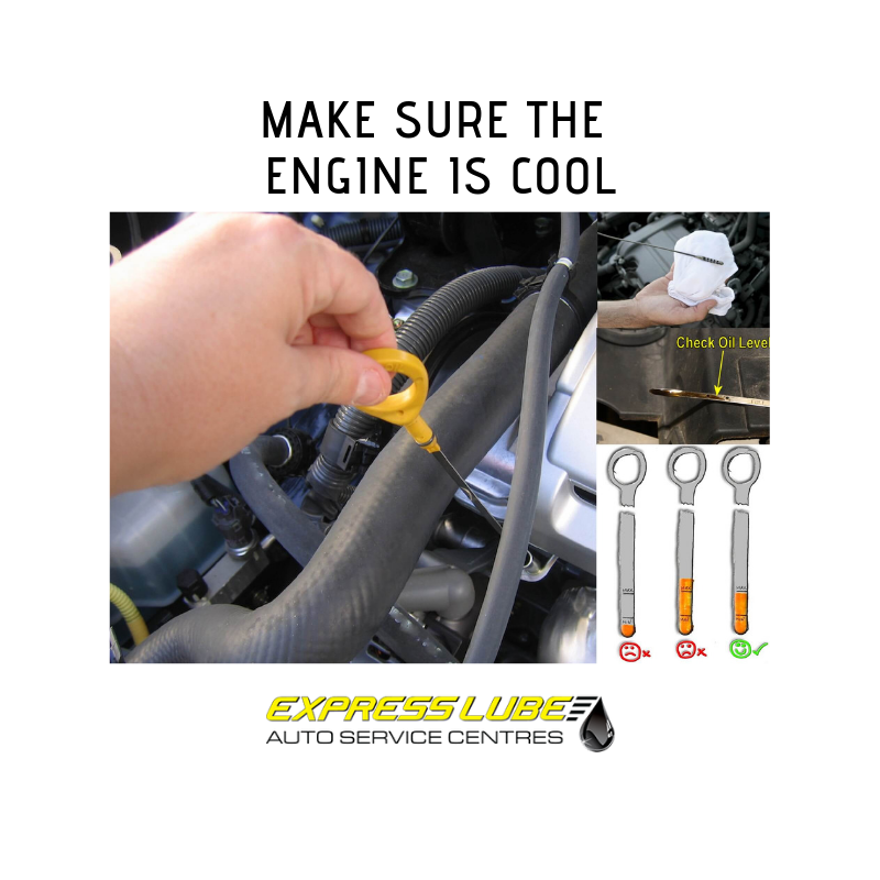 make sure the engine is cool