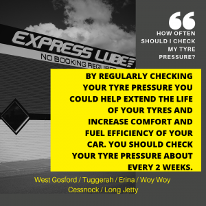 Q / How often should I check my tyre pressure A / By regularly checking your tyre pressure you could help extend the life of your tyres and increase comfort and fuel efficiency of your car. You should check your tyre pressure about every 2 weeks.
