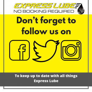 Express Lube follow us on facebook, Instagram and Twitter