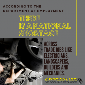 According to the Department of Employment, there is a national shortage across trade jobs like electricians, landscapers, builders and mechanics.