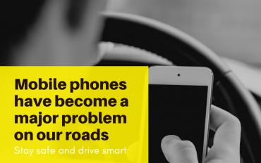 Mobile phones have become a major problem on our roads