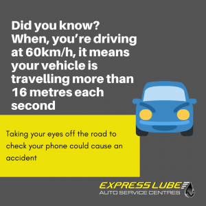 don't take your eyes off the road while you're driving