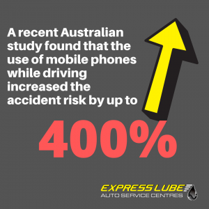 using mobiles while driving can increase accident risk by 400%