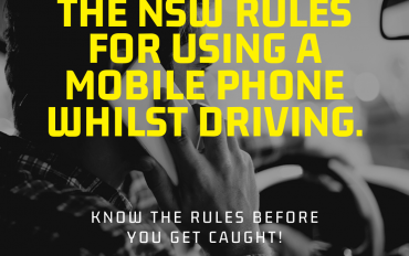 The NSW Rules for using a mobile phone whilst driving.