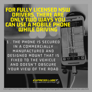 For fully licensed NSW drivers, there are only two ways you can use a mobile phone while driving. #1