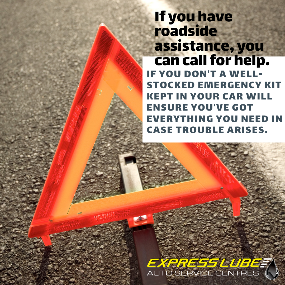 If you have roadside assistance, you can call for help.