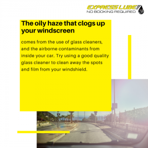 Remove the cloudy film from your windshield to help with glare