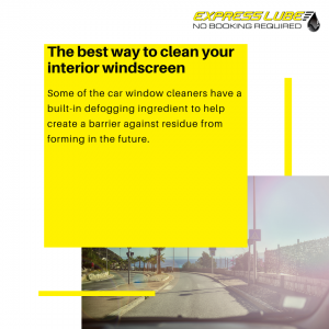 The best way to clean your interior windscreen.