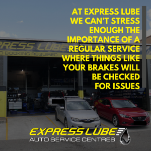 we can't stress enough the importance of a regular service where things like your brakes will be checked for issues