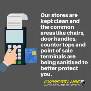our stores are kept clean, and the common areas like chairs, door handles, countertops and point of sale terminals are being sanitised to better protect you.