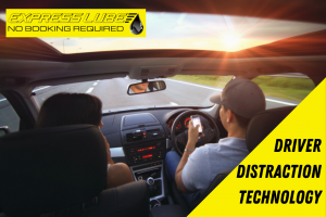 Driver distraction technology to prevent mobile phone use while driving