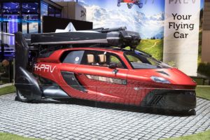 The PAL-V Liberty, the first flying car, was first unveiled in Geneva in 2018.