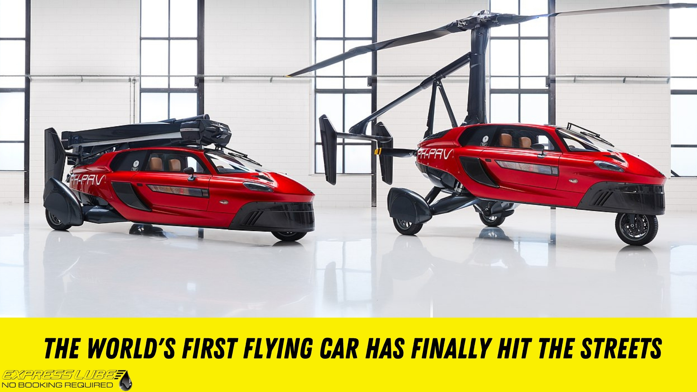 Flying cars are finally a reality: the world's first flying car - PAL-V Liberty - has hit the streets in Europe.